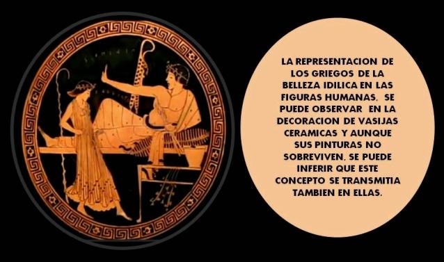 belleza idilica griega en vasijas de ceramica