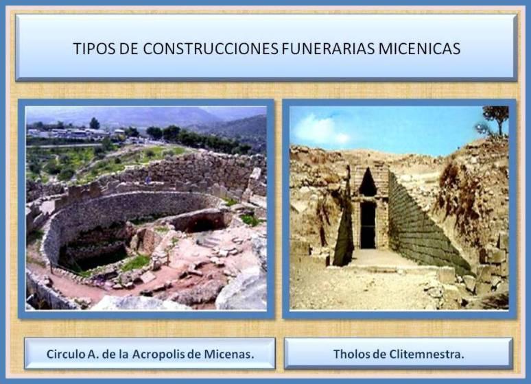 construcciones funerarias micenicas