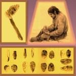 Corte de piedras en el periodo mesolitico para obtener puntas filo cortantes ulilizadas en armas y herramientas.