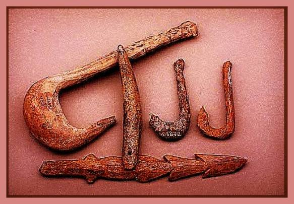 fishing hooks Vinca culture,Neolithic