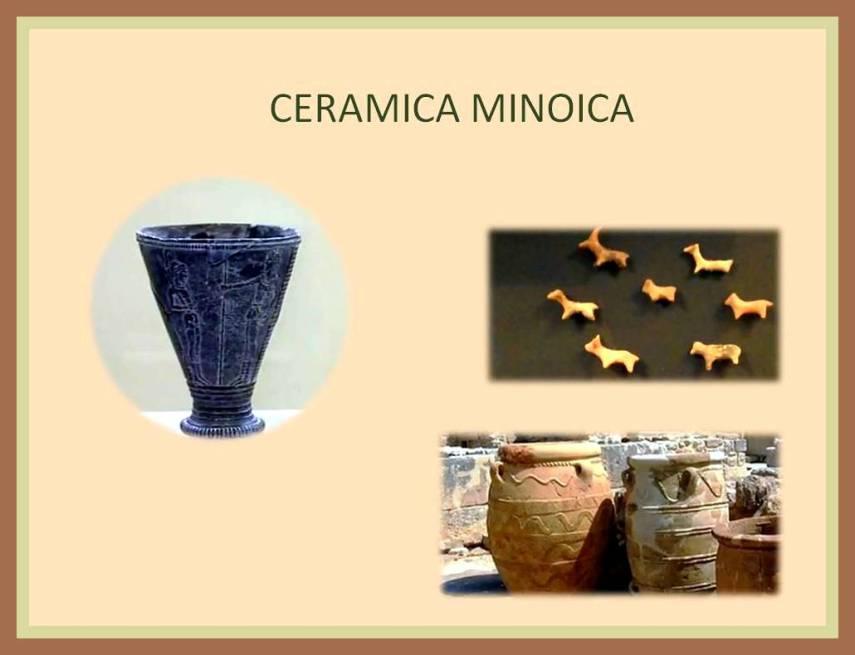Ceramica de diversos tamanos de la cultura Minoica