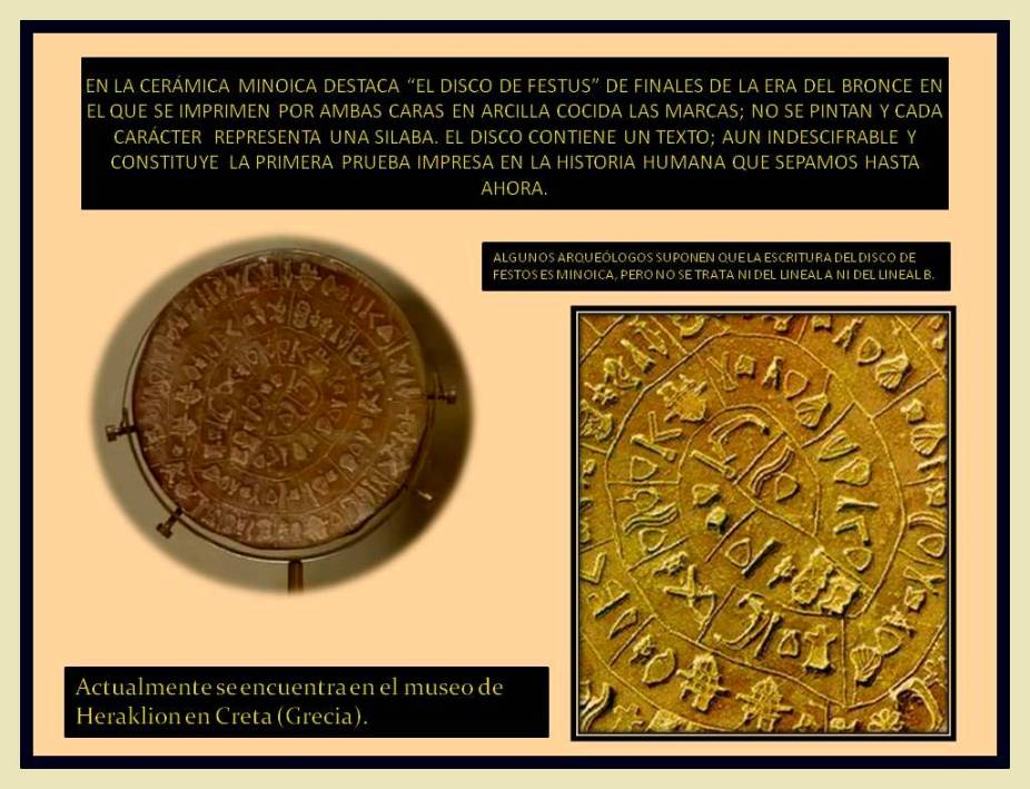 Disco de Festus. Cultura Minoica