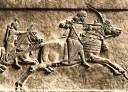 Arqueros Asirios..Assurbanipal en persecusion. Kouyundjik. British Museum