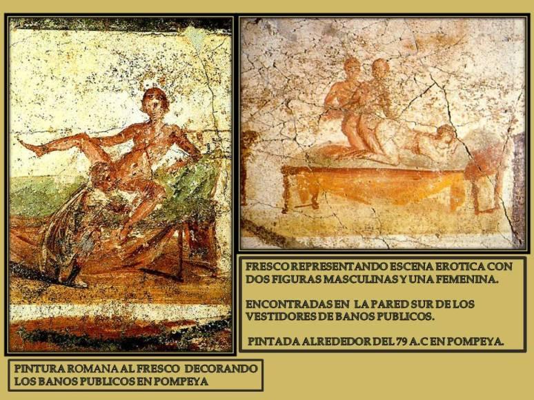 pintura erotica en banos publicos romanos