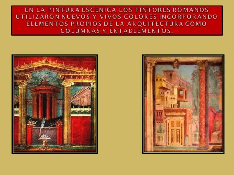 pintura escenica en Roma