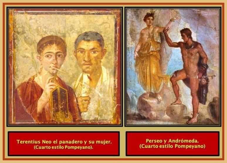 Pompeya frescos. Cuarto estilo)
