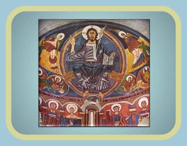 Pintura en las bovedas de Iglesia y catedrales reforzando el mensaje religioso
