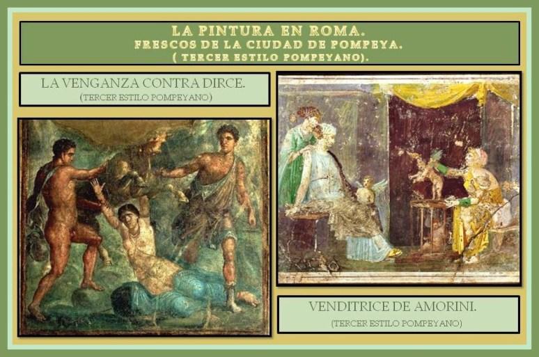 tercer estilo Pompeyano frescos