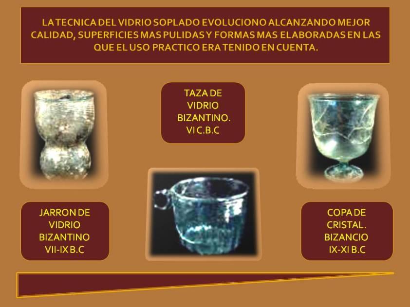 vidrio  Bizantino uso practico