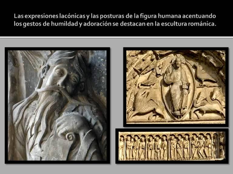 expresiones y posturas en la escultura romanica.