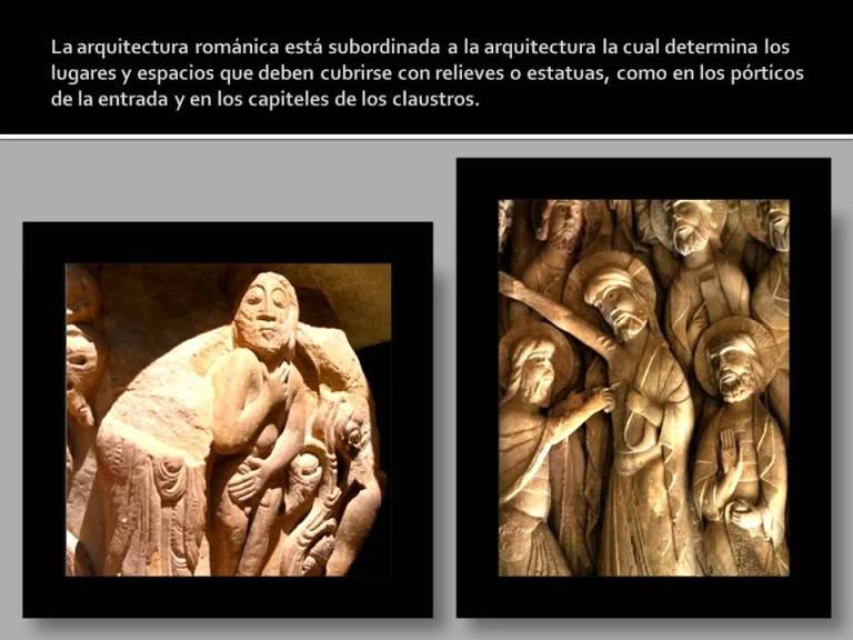 subordinacion de la escultura romanica a la arquitectura.