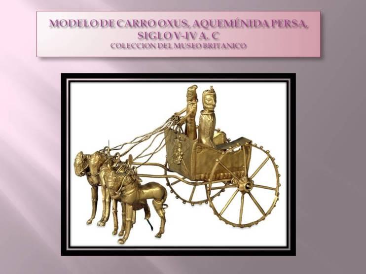 MODELO DE CARRO OXUS, AQUEMÉNIDA PERSA, SIGLO V-IV A. C