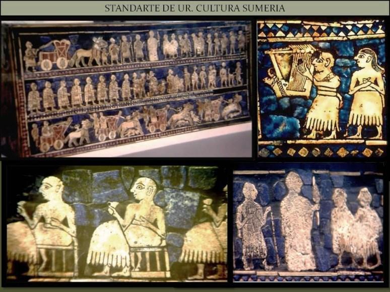 Standarte de UR. Cultura Sumeria