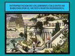 Interpretacion de los Jardines Colgantes de Babilonia por el artista MartinHEEMSKERCK.
