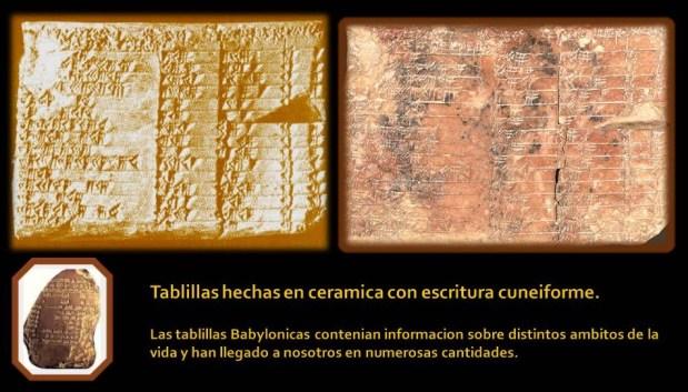 tablillas babilonicas de arcilla