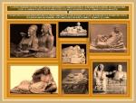 Esculturas etruscas en enterramientosfunerarios