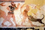 Phersu and his victim tomb of theAugurs late VI B.C. Tarquinia.