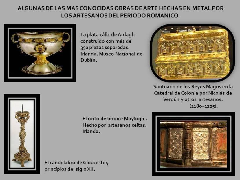 Algunas de las mas conocidas obras en metal del Romanico