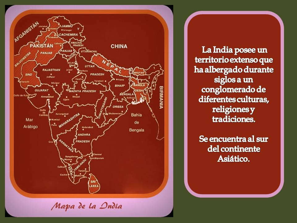 Mapa de la India politico.