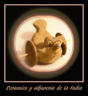 juguete de ceramica procedente de Harappa en el valle del Indo