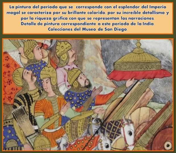 Colorido y riqueza grafica en pinturas en el periodo mogol