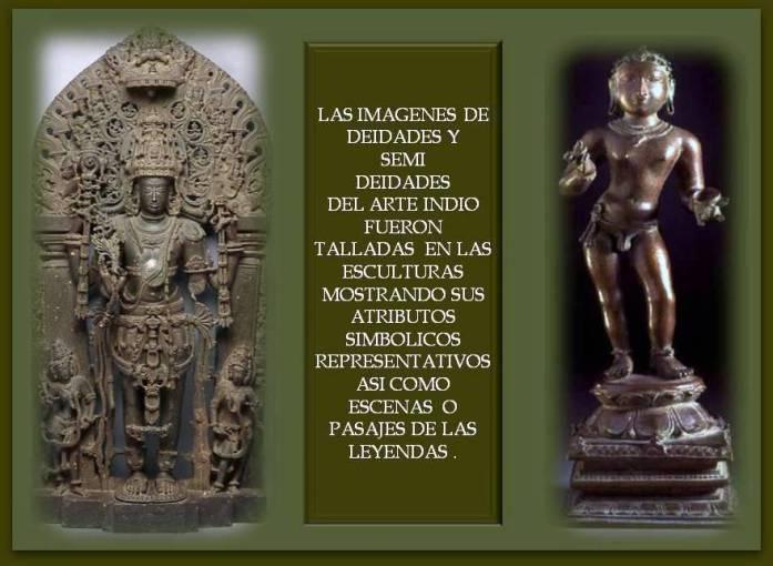 esculturas en metal de la India con atributos simbolicos