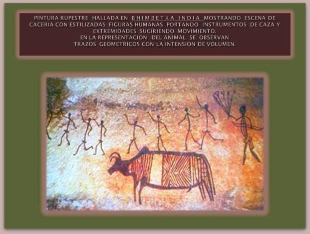 Pintura rupestre hallada en cueva de La India.
