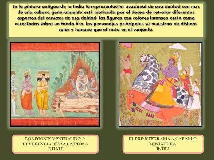representacion de deidades en la pintura de La India