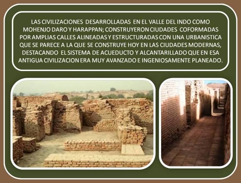 ruinas de las ciudades de Mohenjo Daro y Harappan