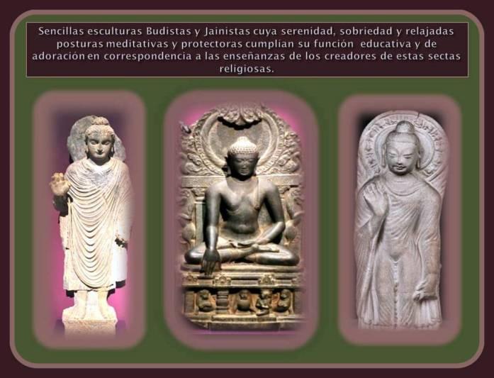 Sencillas Esculturas Budistas y Jainistas de La India
