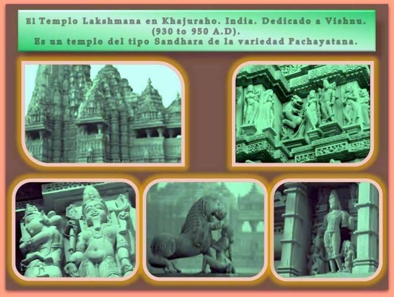Esculturas en los exteriores de los templos de La India