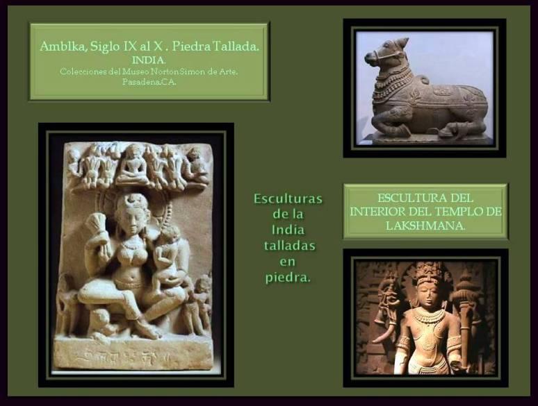 Esculturas realizadas en Piedra de La India.