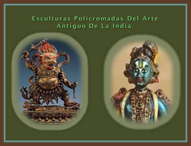 Pequenas esculturas policromas de La India