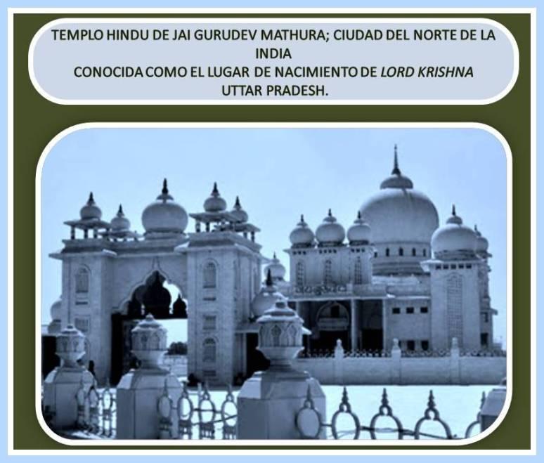 templo de Jai gurudev en mathura. Uttar Pradesh.