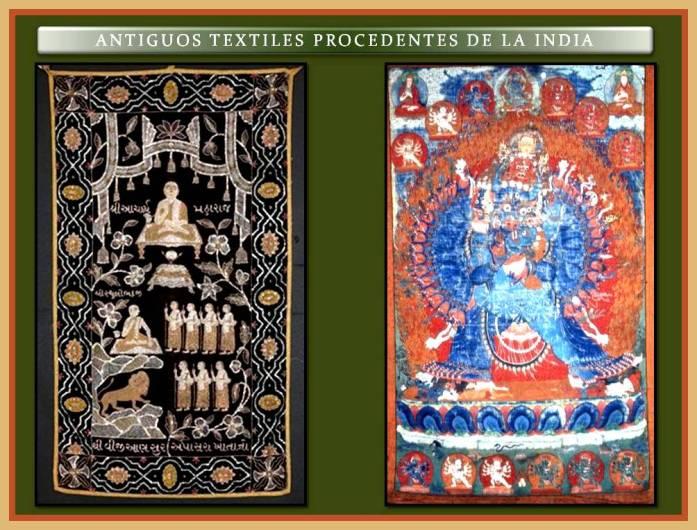 Textiles de la India.