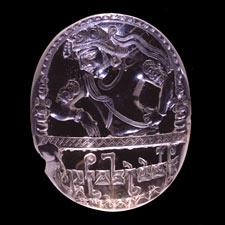 Sello elaborado en Cristal de Roca que pertenecio al rey Avrighsa. India.