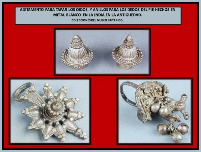 Adornos corporales en metal de La India en la antiguedad