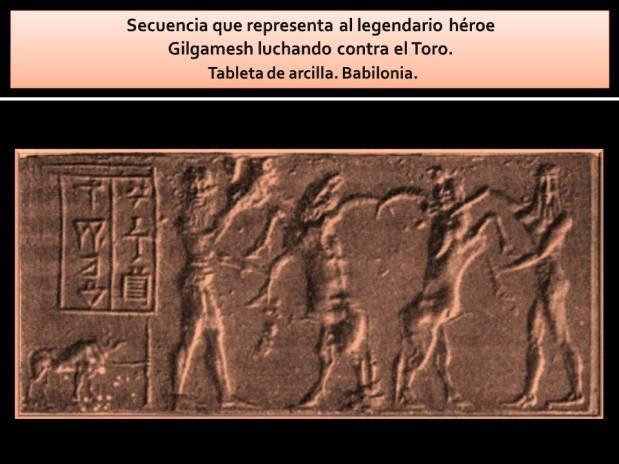 Gilgamesh luchando con el toro