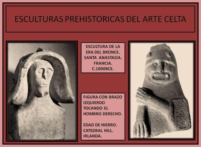 Escultura antropomorfas celtas hechas en piedra.