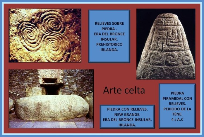Relieves celtas sobre piedra