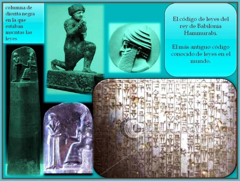 El rey hammurabi y su codigo de leyes