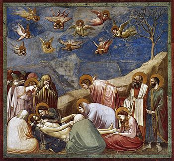 Lamentacion de Cristo. Giotto de Bondone. Capilla Scrovegni. The Mourning of Christ)