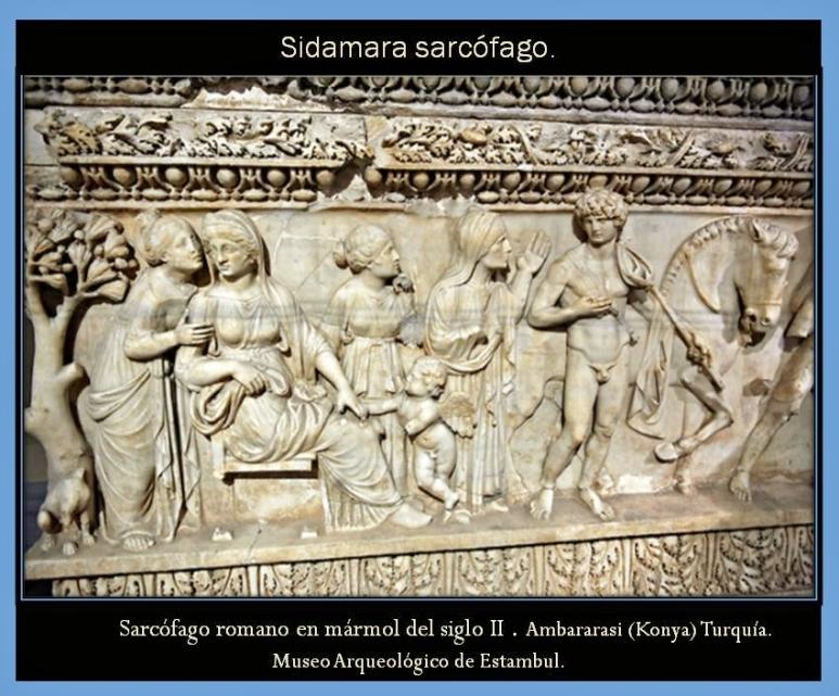 Lado del relieve. Sarcofago de Sidamara