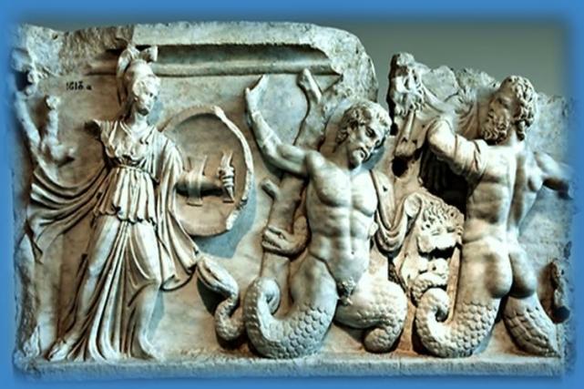 relieve del Sarcofago de Sidamara.