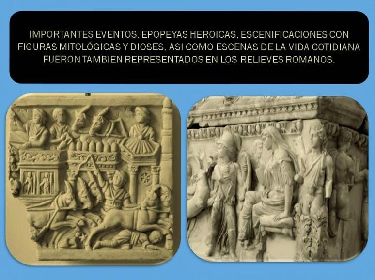 Escenificaciones en relieves romanos de hechos cotidianos