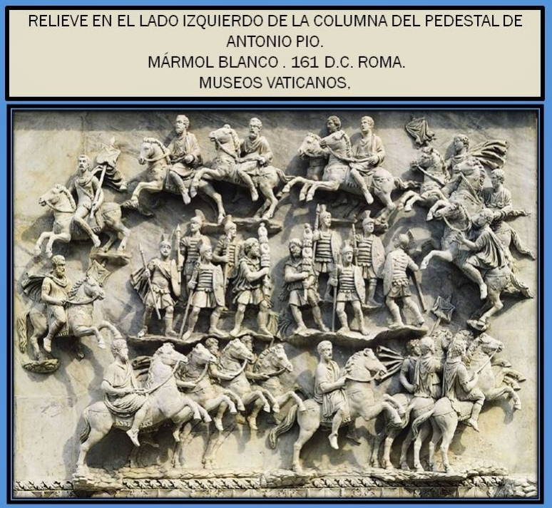 Relieve de la columna del pedestal de Antonio Pio