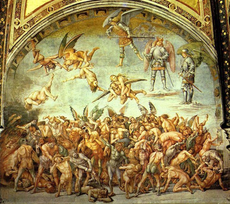 Luca Signorelli. Fresco en la catedral de Orvieto (1499-1505).