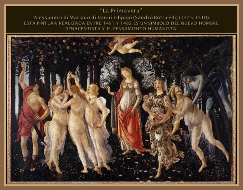 Renacimiento Temprano. La Primavera. Sandro Botticelli.