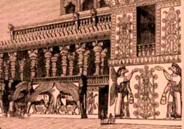 Pinturas adosadas a paredes en arte Asirio