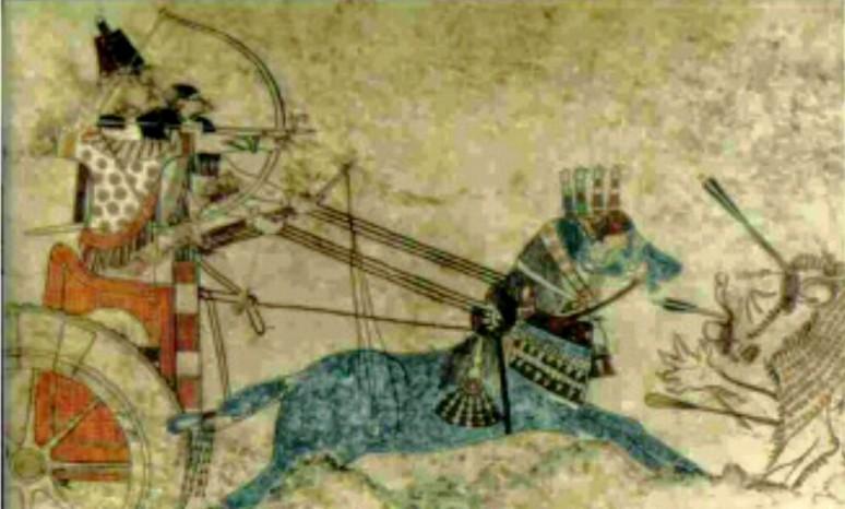 Pintura Asiria del Palacio Til- Barbil